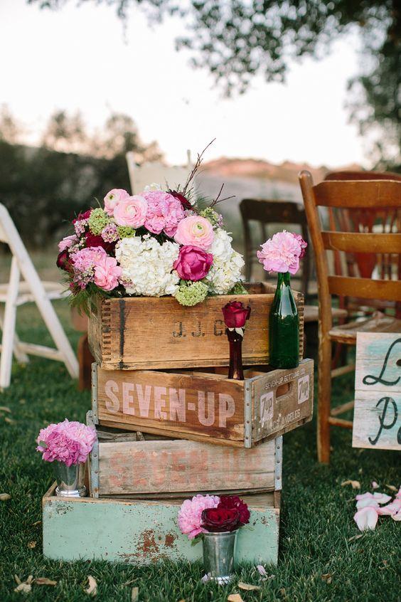 decoração de casamento boho chic