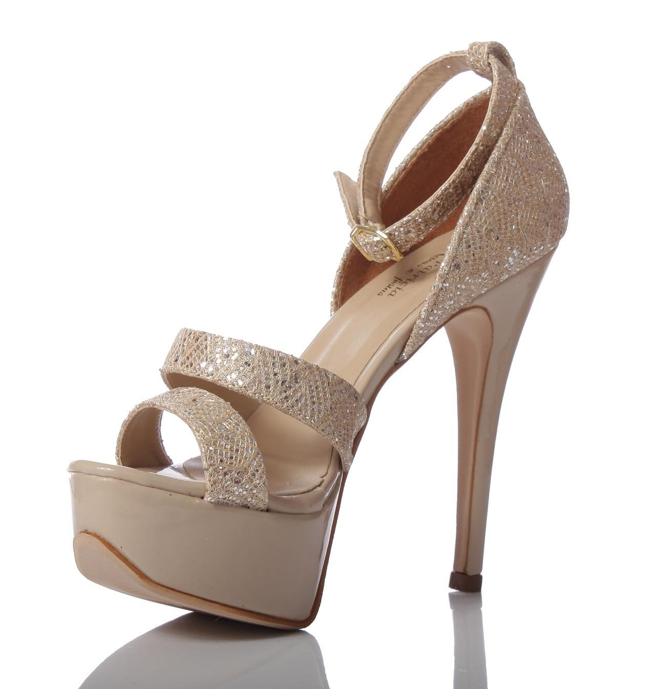 0177da9da5 Sapato para noivas e festas PNF 13 - Dourado e Nude