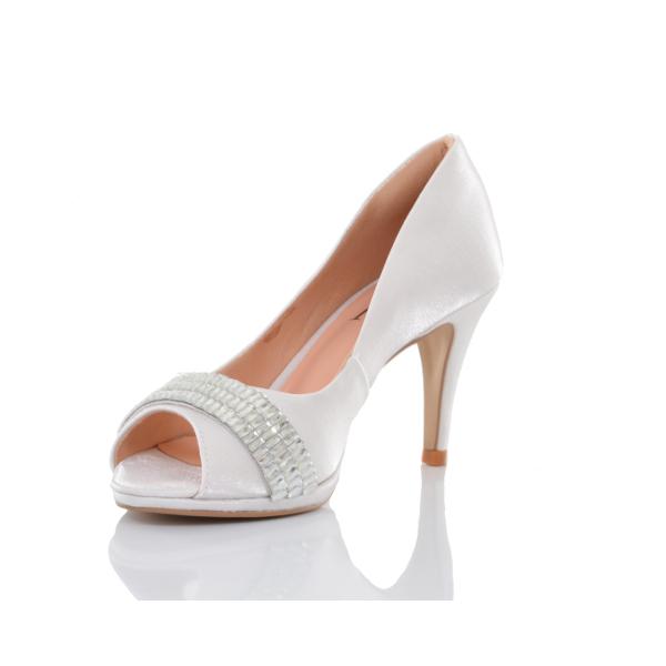 Sapato de Noiva Branco com Strass PNF 86