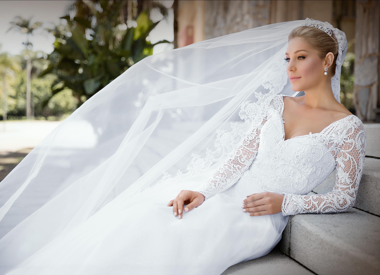 tipos de véu de noiva