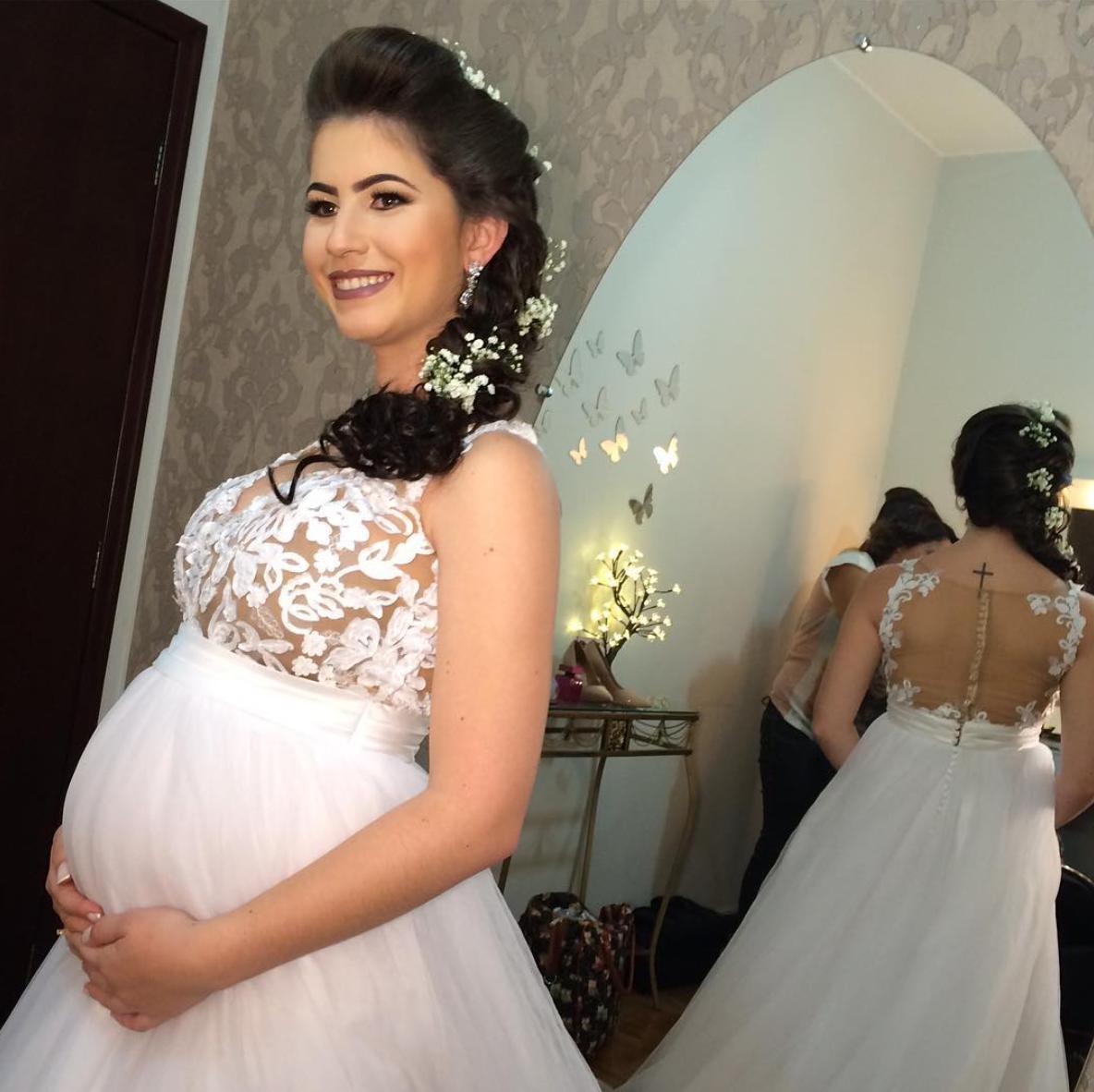 vestido de noiva para grávidas