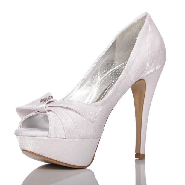 e818830561 Sapato de noiva PNF 48 branco Meio Laço- Patrícia Noivas   Festas