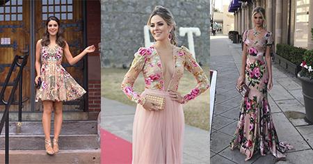 Trend alert: o bordado floral preencheu os vestidos de festa!