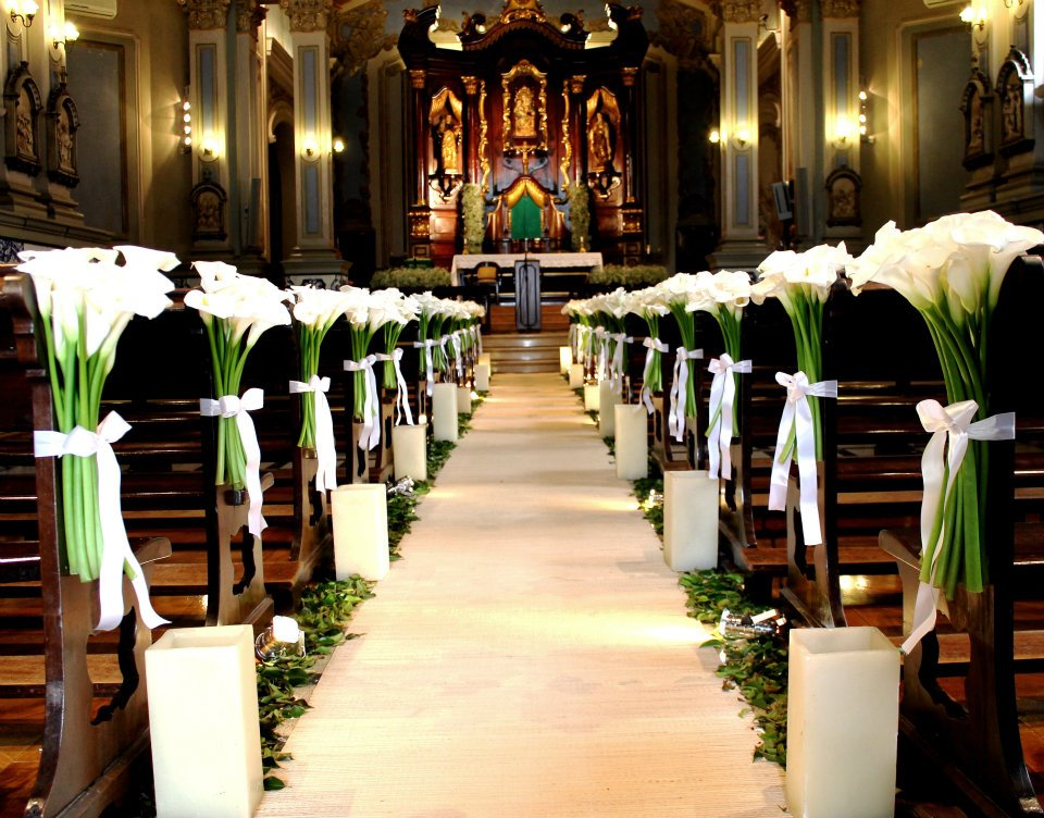 Decoração de casamento: como ornamentar a igreja?